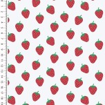 Baumwolle Design Poplin Strawberry